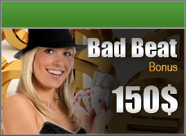 Offsidebet Poker - Bad Beat Bonus