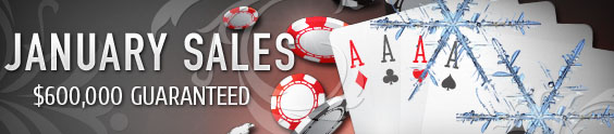 Offsidebet Poker - January Sales
