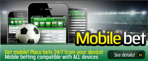 Mobile betting at Offsidebet!
